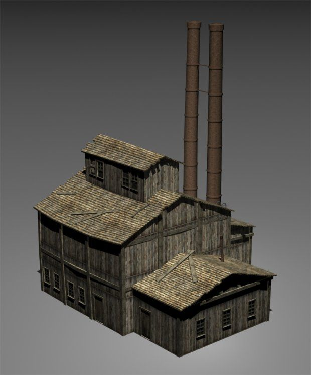 SCENERY Small Factory 3d model free