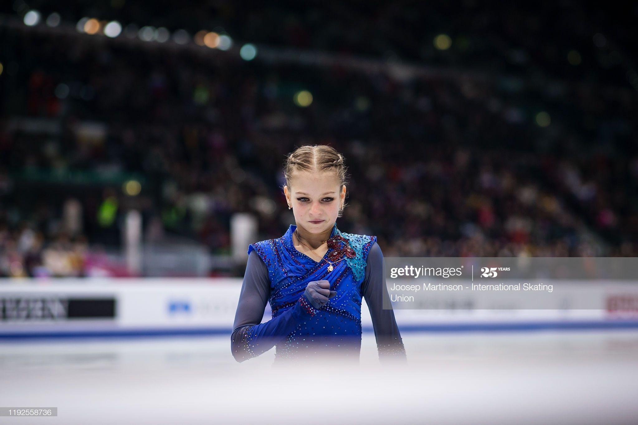 Foto di attualità : Alexandra Trusova of Russia reacts in ...