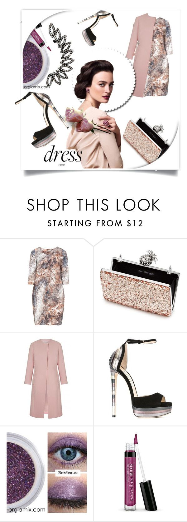 """Winter Dresses Under $100"" by kari-c ❤ liked on Polyvore featuring Open End, Miss Selfridge, Jimmy Choo, Bare Escentuals and under100"