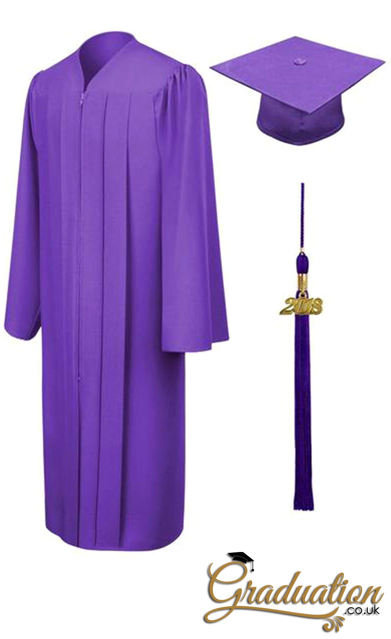 purple high school cap