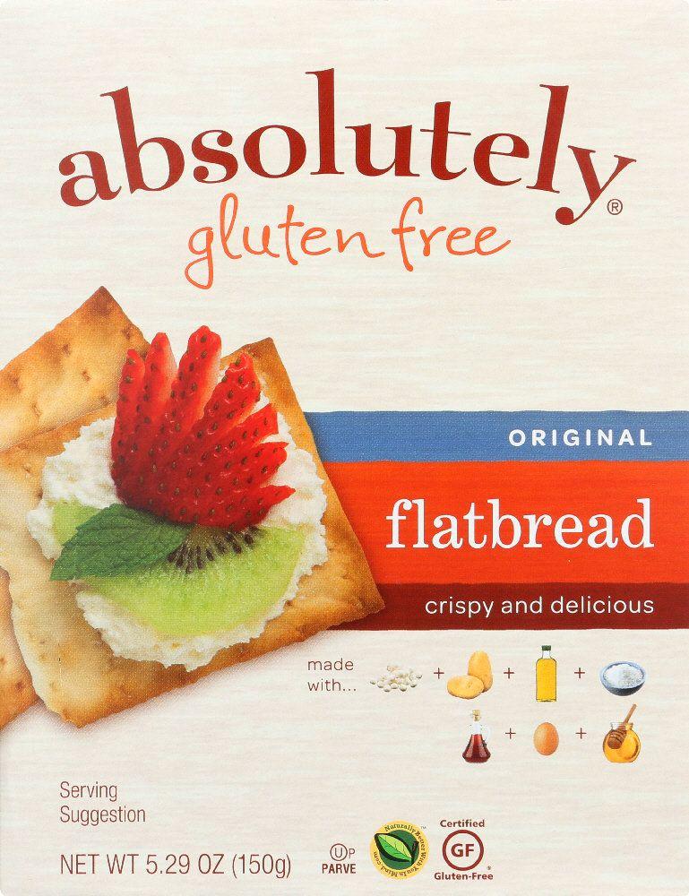 Absolutely gluten free flatbread original 529 oz 385