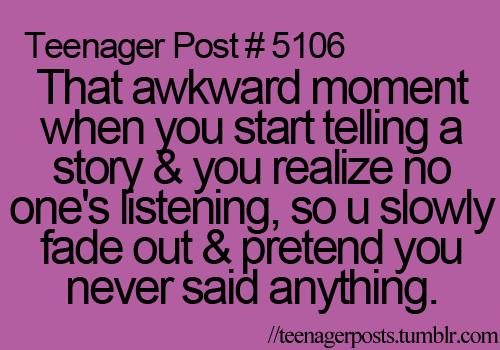 Teenage posts..