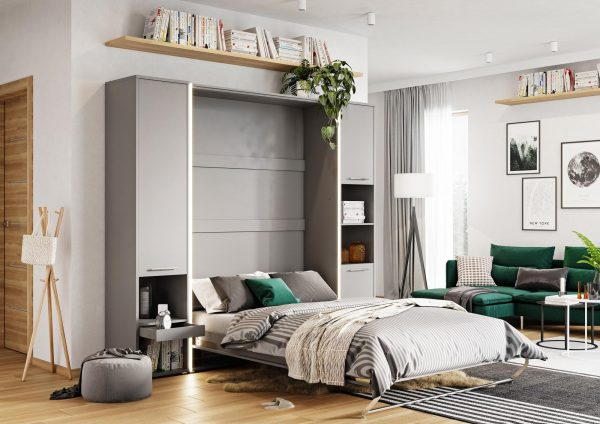 Photo of Vertical foldaway wall bed with side cabinets