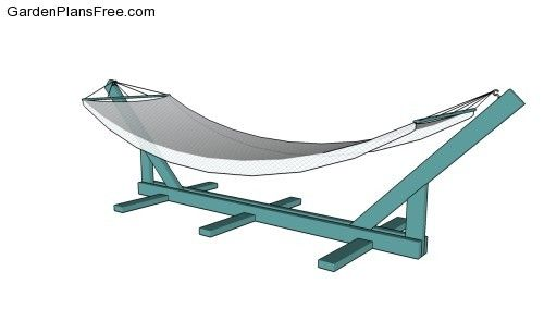 Hammock Stand Plans Free Things To Try Diy Pinterest