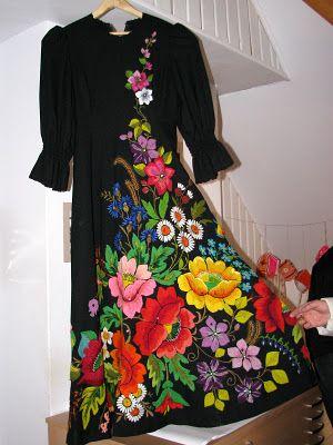 Estonian Muhu Hand Embroidery Ropa Bordada Vestidos
