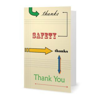Safety Thank You Cards Safety Thanks Set Of 10 Safety Celebration Thank You Gifts Thank You Cards Cards