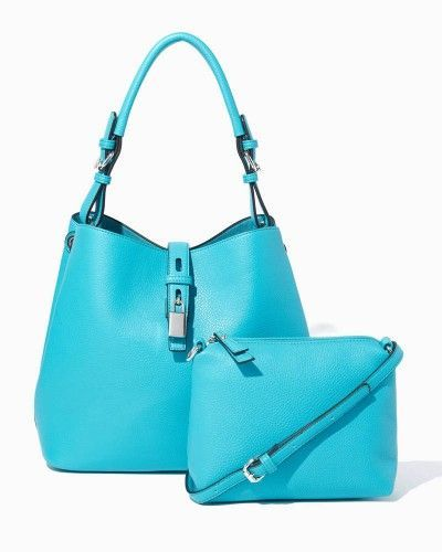 two-in-one bag set in teal