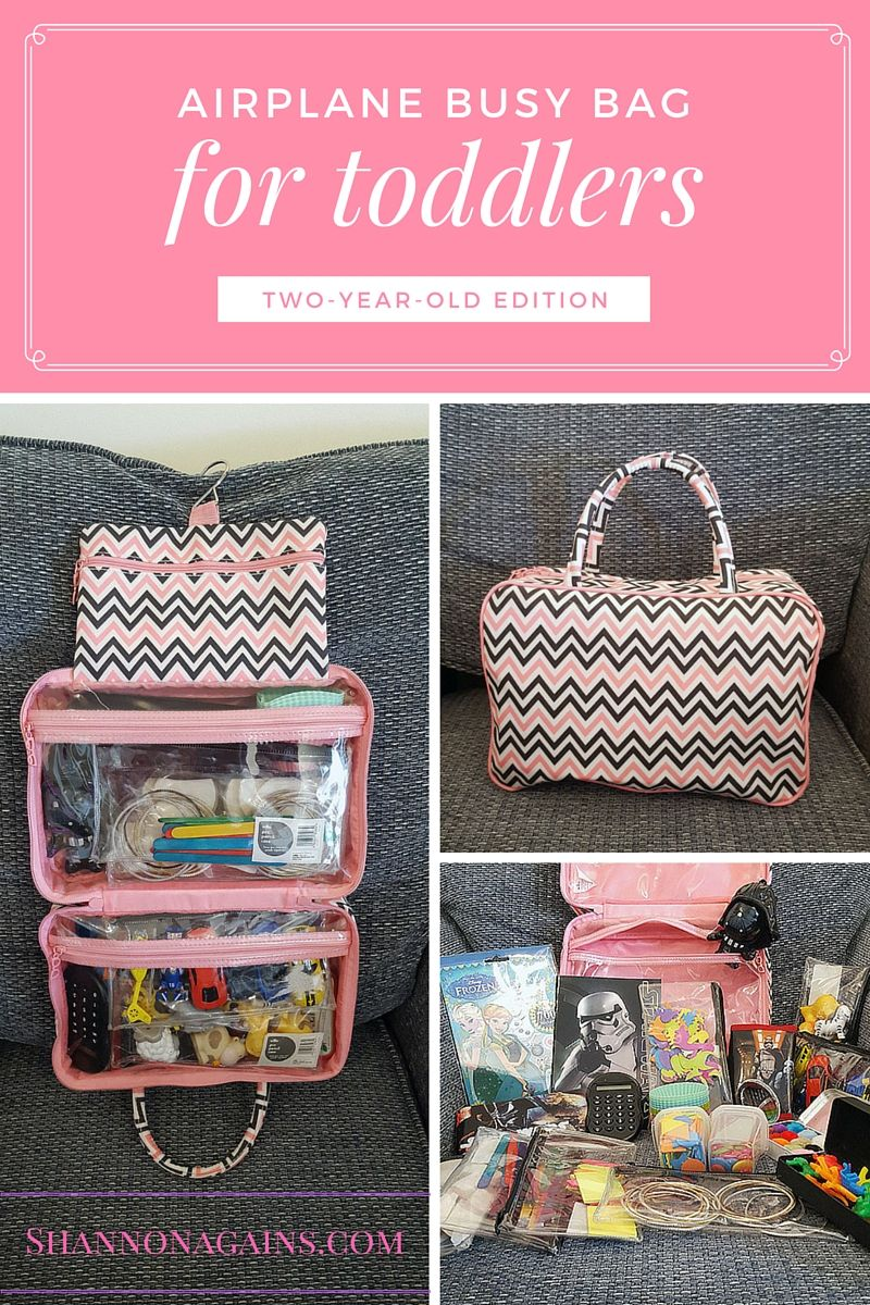 Airplane Busy Bag For Toddlers Two Year Old Edition