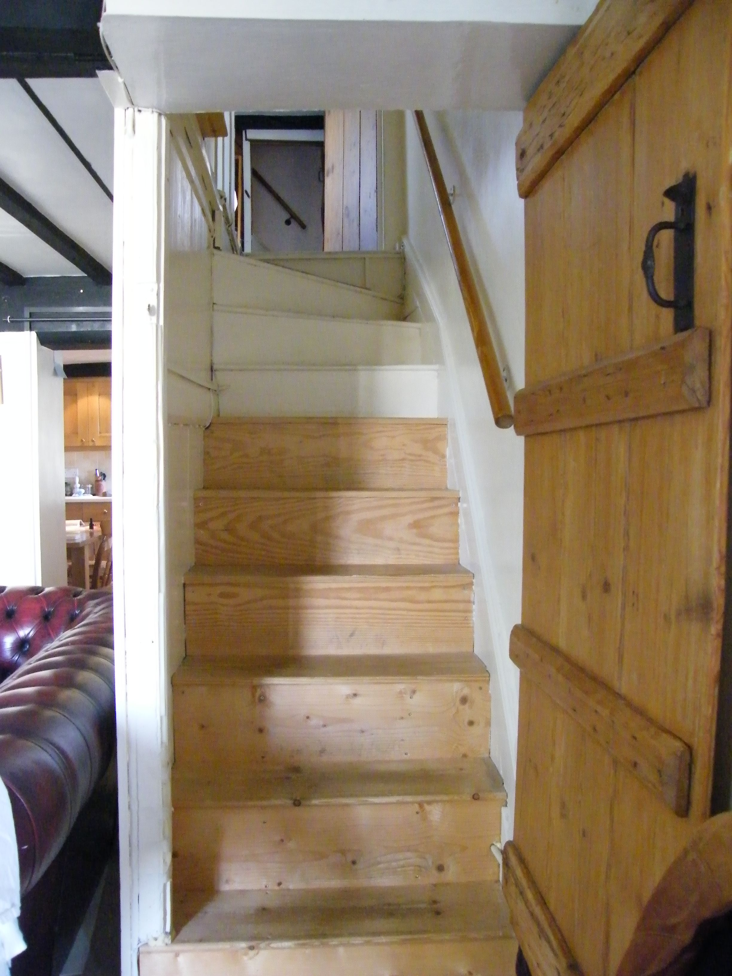 Two Sets Of Steep Stairs Heading Up To Diane Young S Manic Attic Studio Attic Renovation Attic Remodel Attic Design