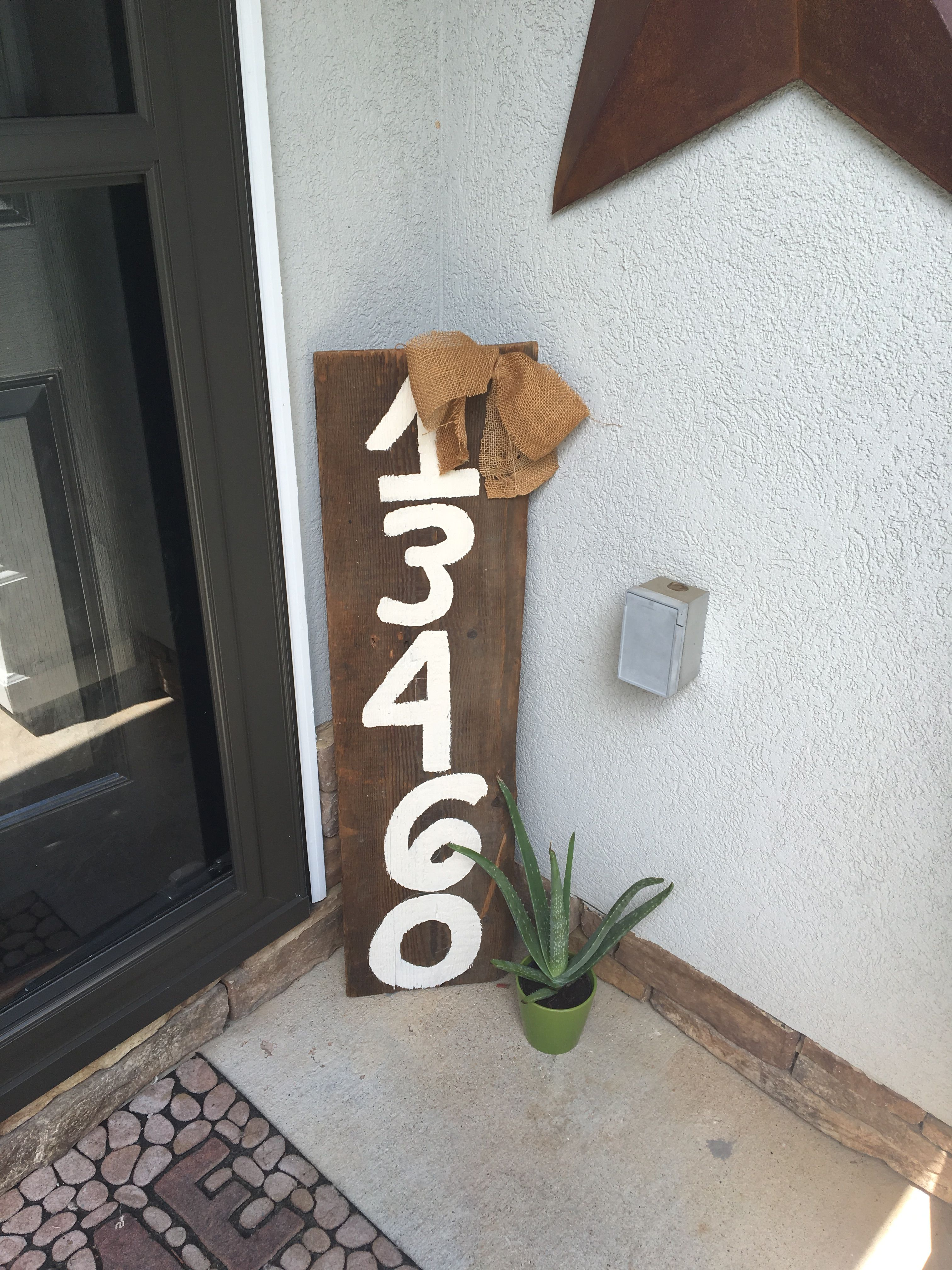 To take the place of traditional house numbers.