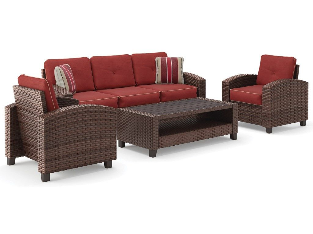 Signature Design By Ashley Meadowtownoutdoor Conversation Set Furniture Outdoor Furniture Sets Value City Furniture