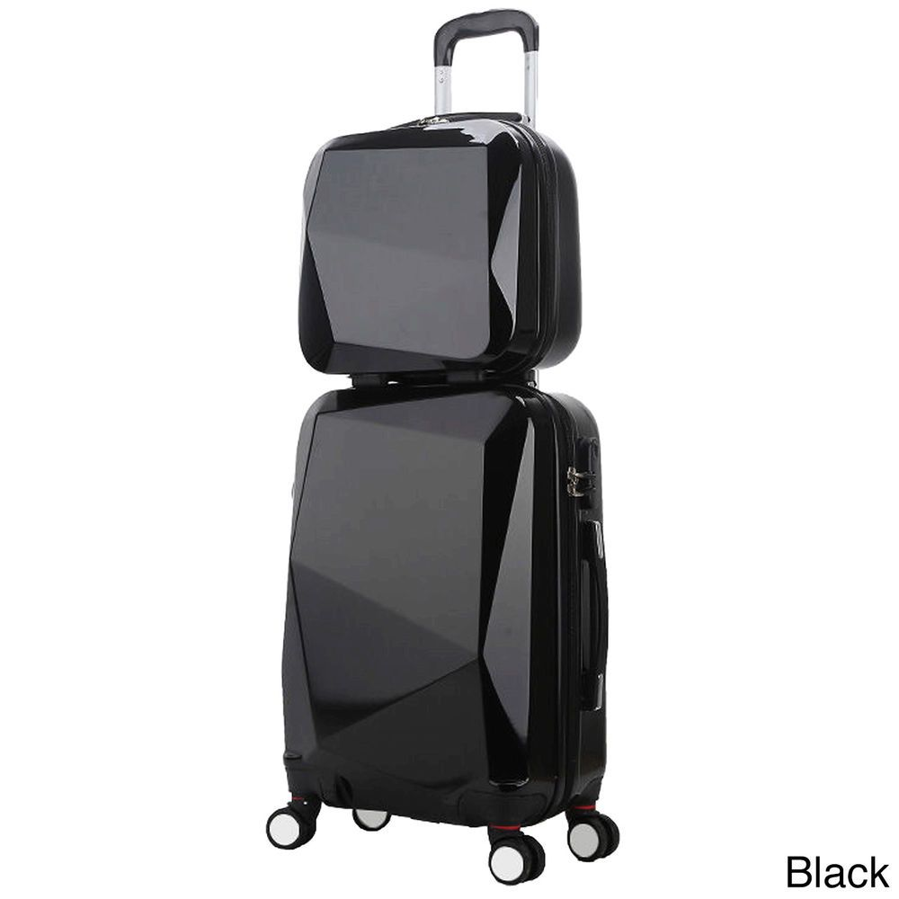 Carry On Luggage With Wheels Set Of Two Black Flights Travel ...