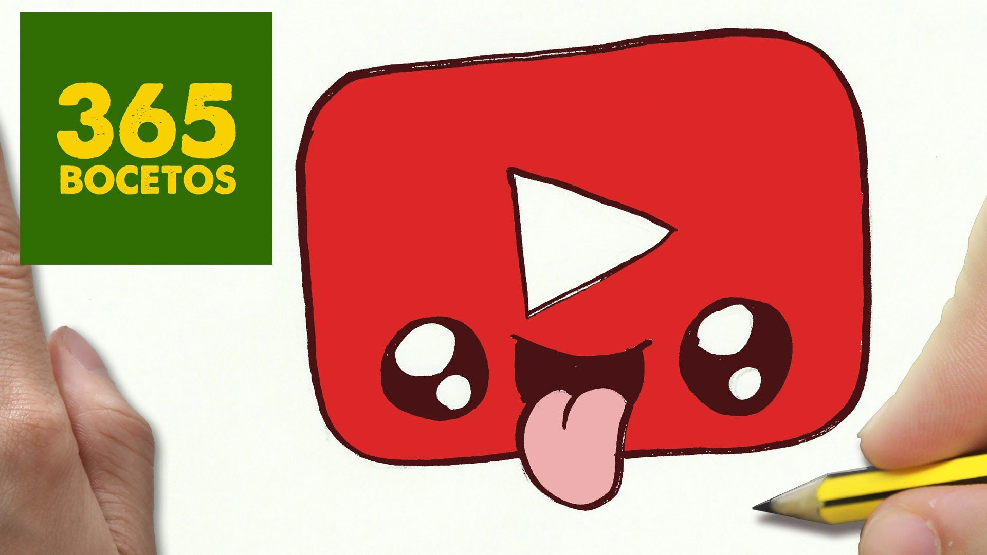 Como Dibujar Logo Youtube Kawaii Paso A Paso Dibujos Kawaii