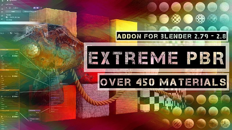 Extreme PBR Combo Edition 800+ Materials addon for Blender
