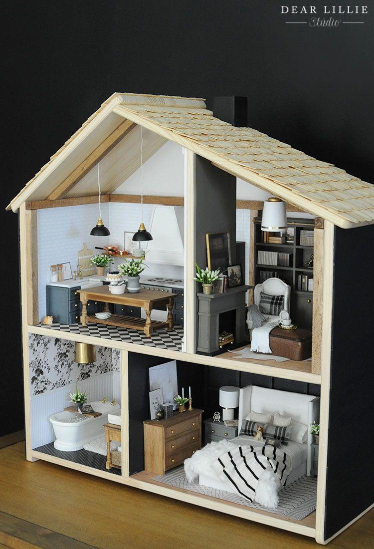 Our Finished Dollhouses (IKEA Flisat Hack
