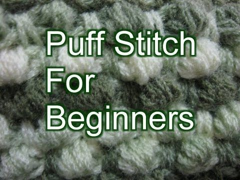 Beginner Crochet Stitches 29 - Puff Stitch - Slow Motion