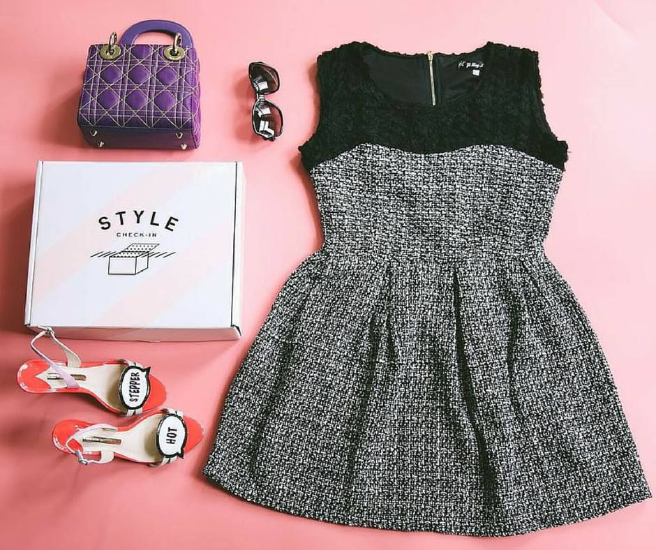 What's Friday night without your LBD? Be the envy of cocktail hour in our Black Tweed Dress. www.stylecheckin.com #LBD #style