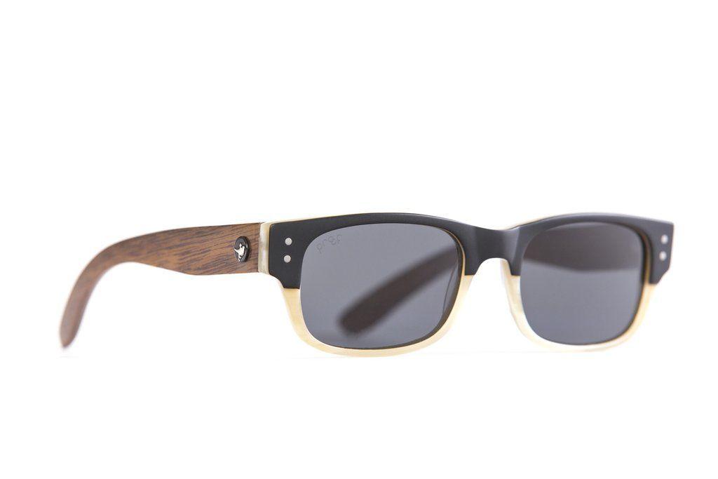 d4280ec06ba38 Eco Eyes - Environmentally Friendly Eyewear. Proof Borah Eco in Bone. Black  and White Sunglasses.