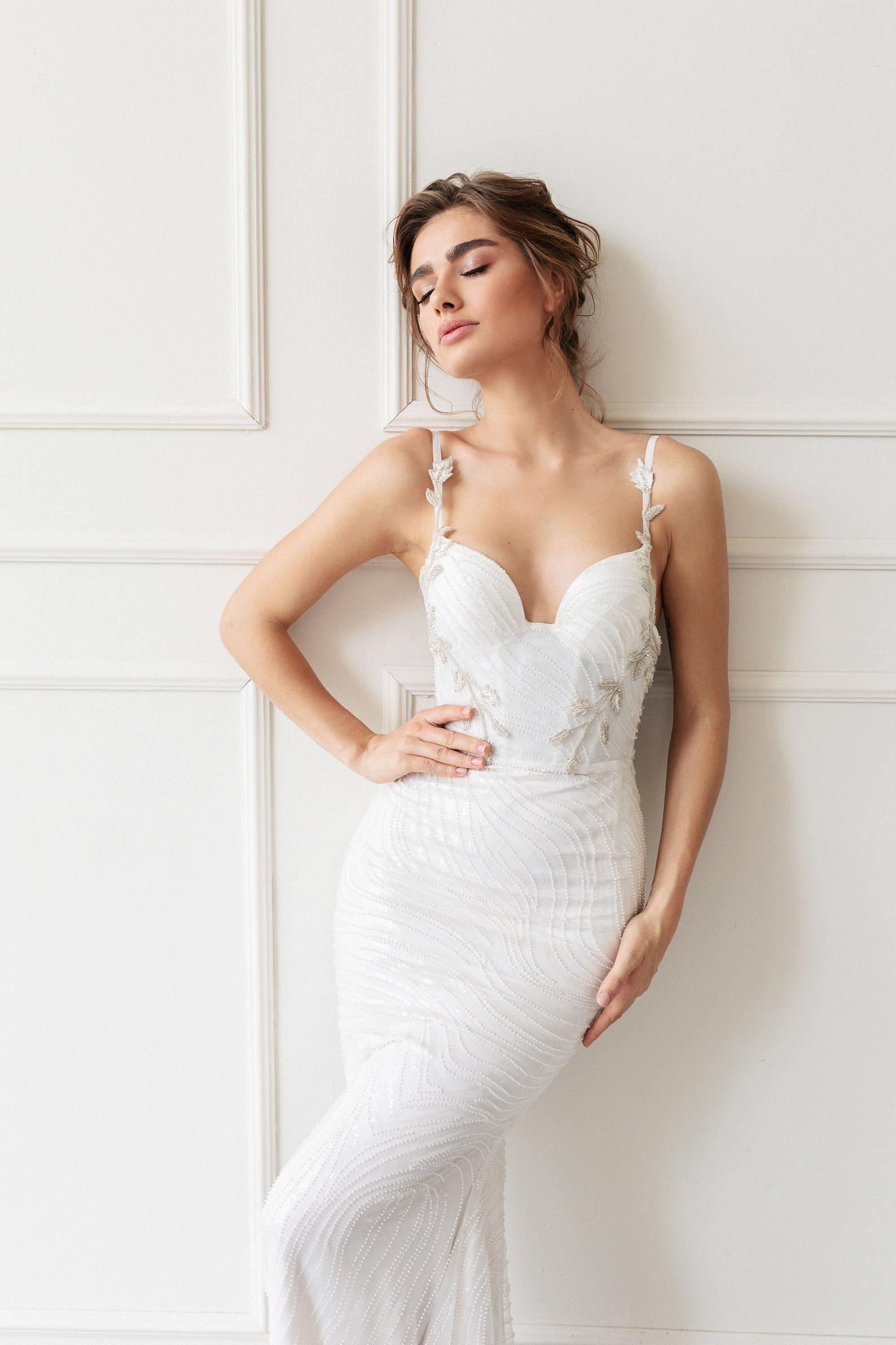 Wedding Dress Airin With Long Train By Ange Etoiles Mermaid Etsy Petite Wedding Dress Top Wedding Dresses Simple Elegant Wedding Dress [ 2382 x 1588 Pixel ]