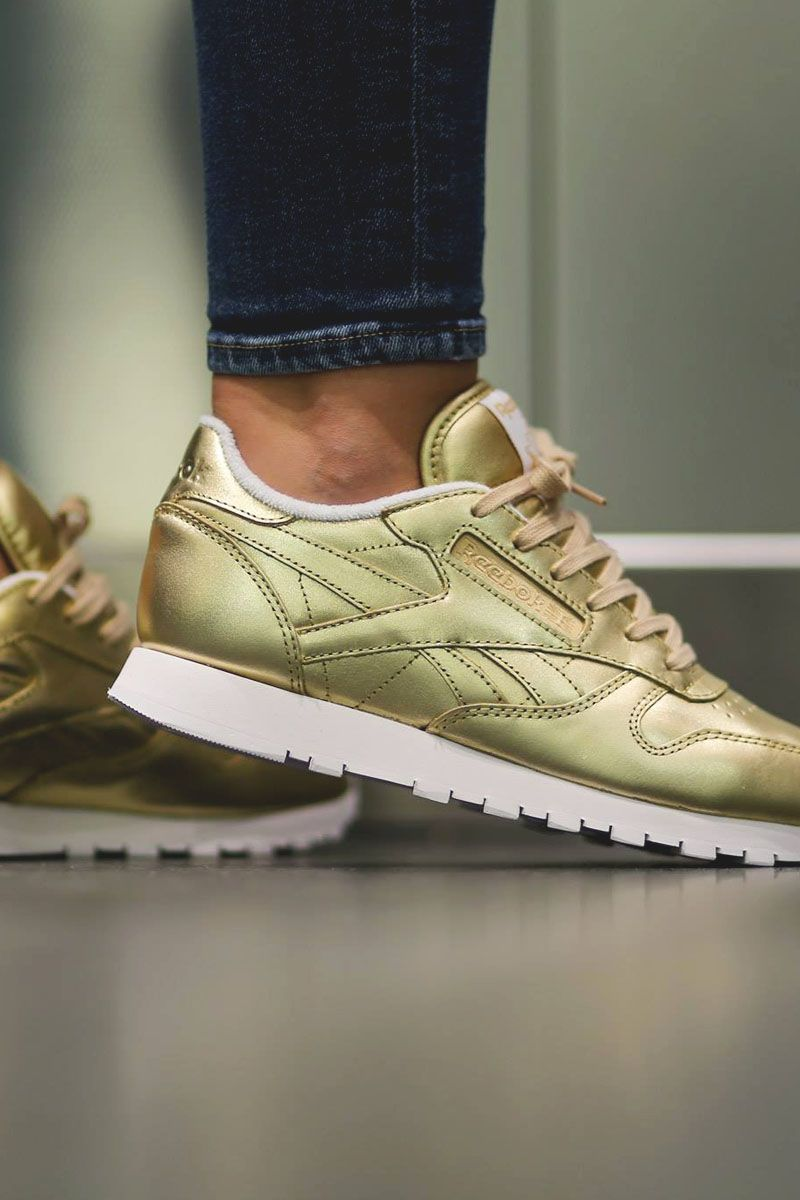 Is This Gold Reebok Classic Leather Shiny Enough