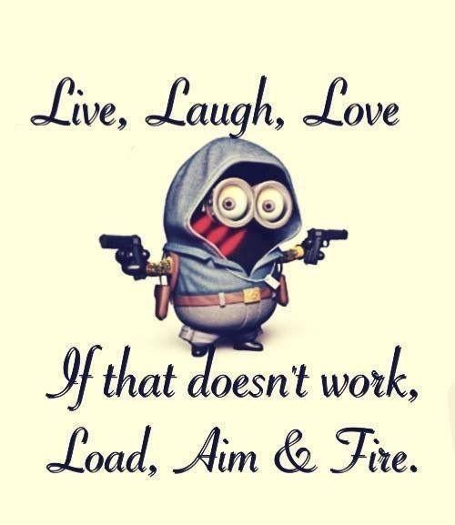 Live Laugh Love Minion Jokes Minions Funny Laugh