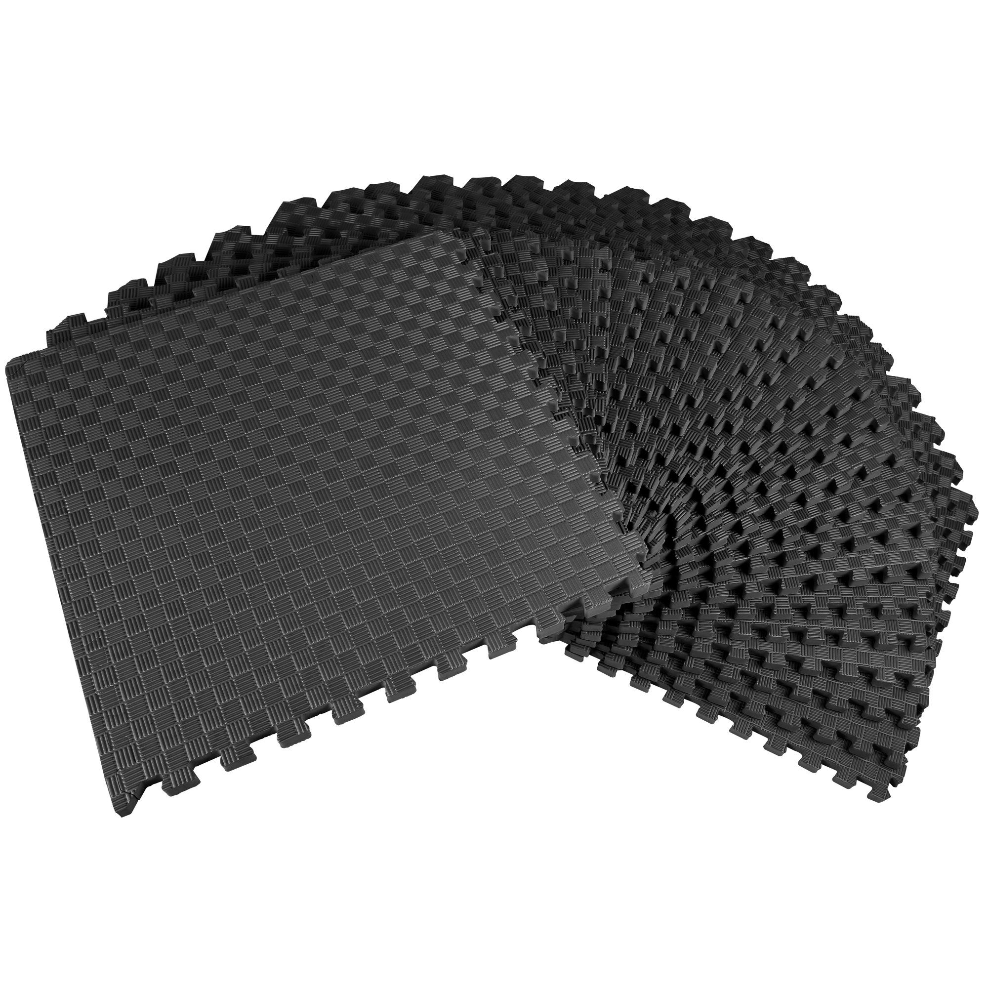 Balancefrom 1 Extra Thick Puzzle Exercise Mat With Eva Foam Interlocking Tiles For Mma Exercise Gymnastics And Home Gym Protective Flooring 72 Square Feet In 2020 Interlocking Tile Mat Exercises Gym Flooring Rubber