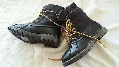 Youth shoe size 13 black Tommy Hilfiger duck boots Brand new SUPER FAST SHIPPING