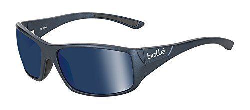 Bolle Kingsnake Sunglass with Polarized Offshore Blue Oleo AR Lens Matte Blue -- Click image for more details.