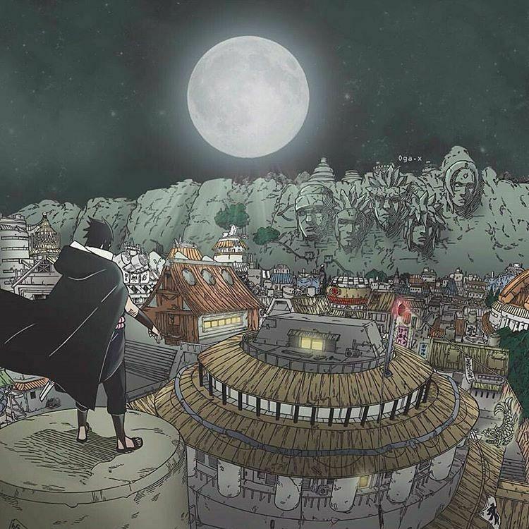 Sasuke returning to the Hidden Leaf village | #NARUTO