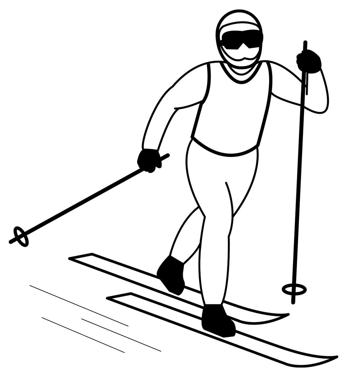 Learn Skiing Coloring Pages For Kids B08 Printable Skiing Coloring Pages For Kids Clip Art Sports Wallpapers Kids Clipart
