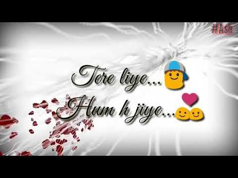 Saajna Female Version Love Song Lyrics Whatsapp
