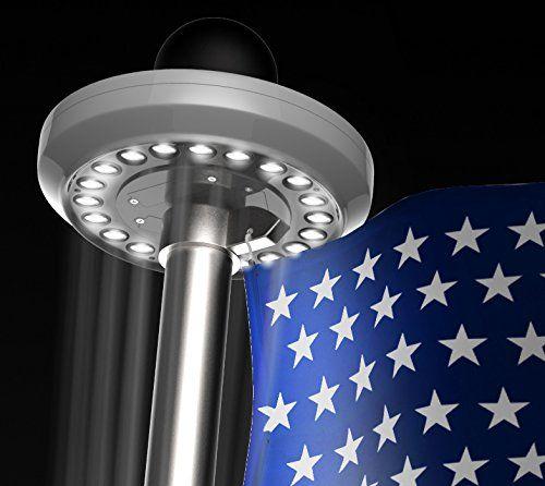 Popular Flagpole Solar Lights With Images Flagpole Lighting