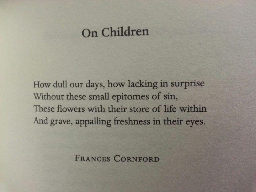 childhood by frances cornford