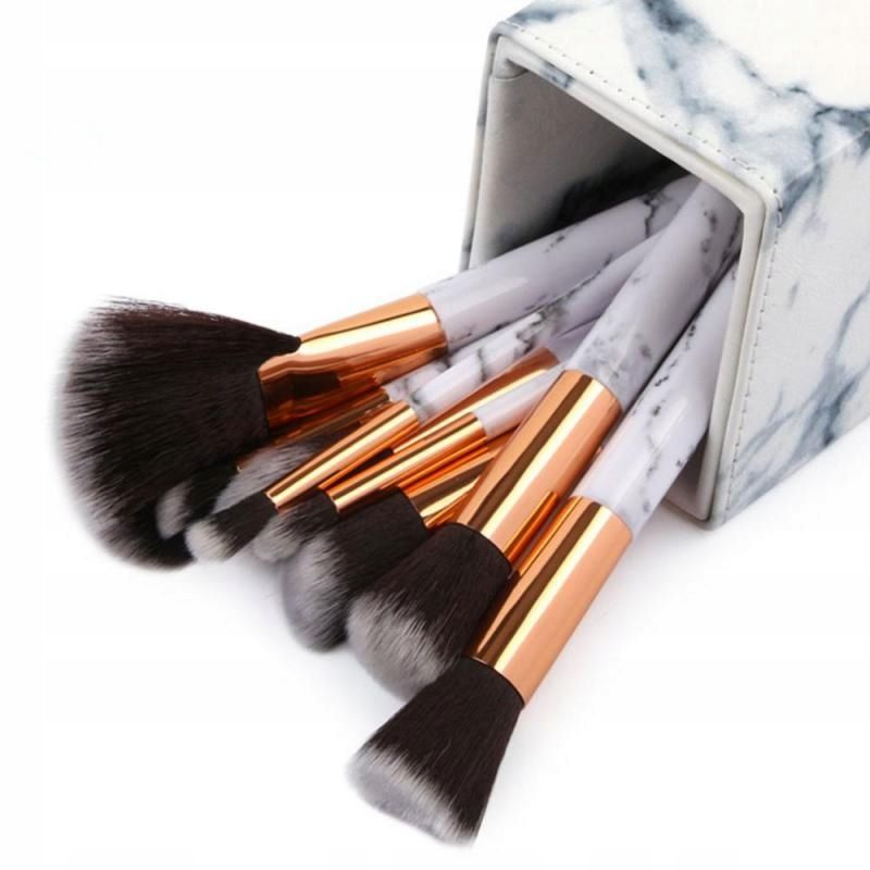Pojemnik Na Pedzle Do Makijazu Stojak Marmurowy 7610500275 Allegro Pl Eyeshadow Brush Set Brush Holder Marble Pattern