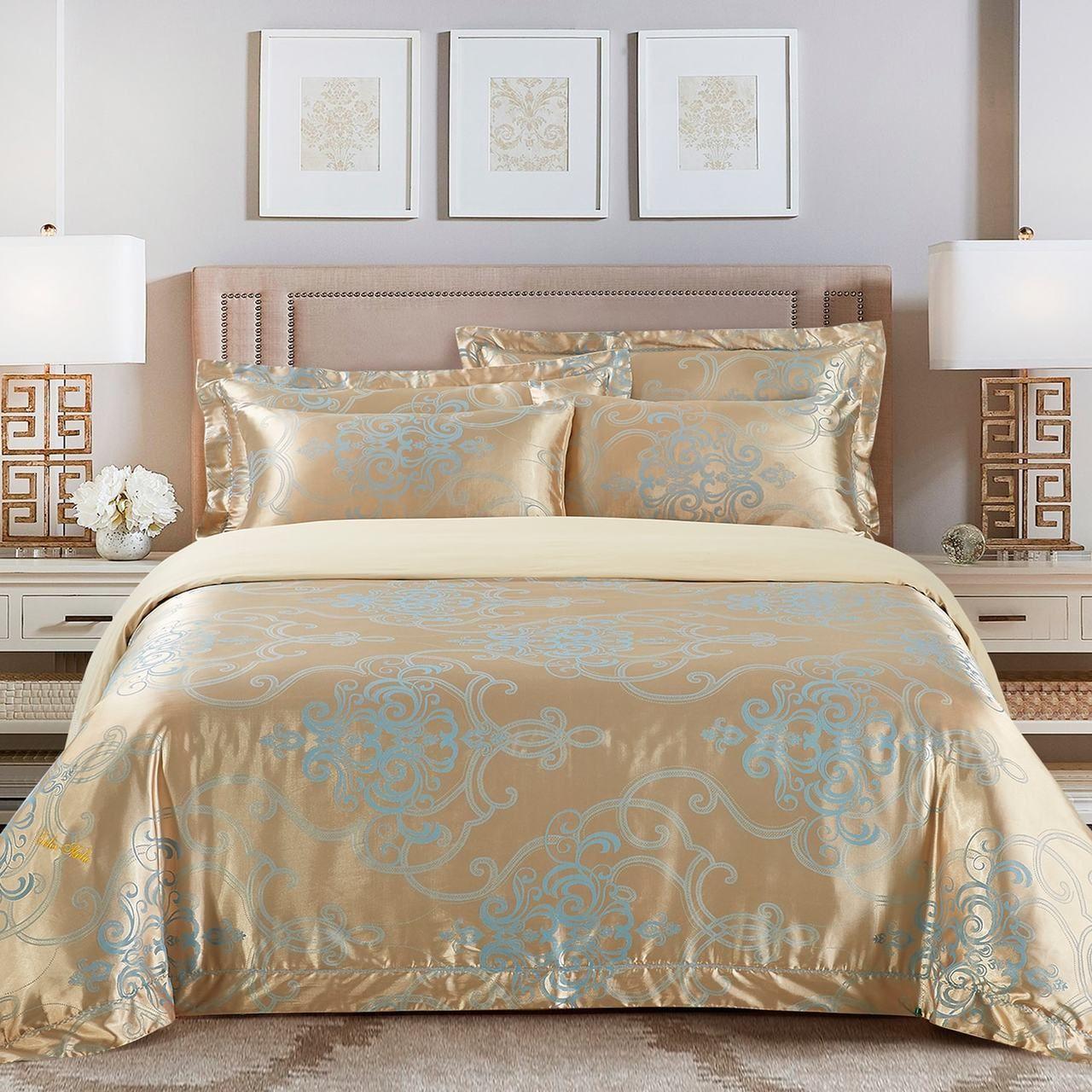 Dm505q Dolce Mela Bedding San Marino Luxury Jacquard Queen Size Duvet Cover Set Queen Size Duvet Covers Duvet Cover Sets King Size Duvet Covers