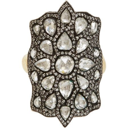 Sevan Bicakci Diamond, Gold & Sterling Silver Theodora Shield Ring at Barneys.com