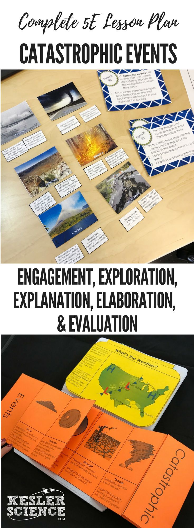 Catastrophic Events 5E Lesson Plan ready to print and teach the ...