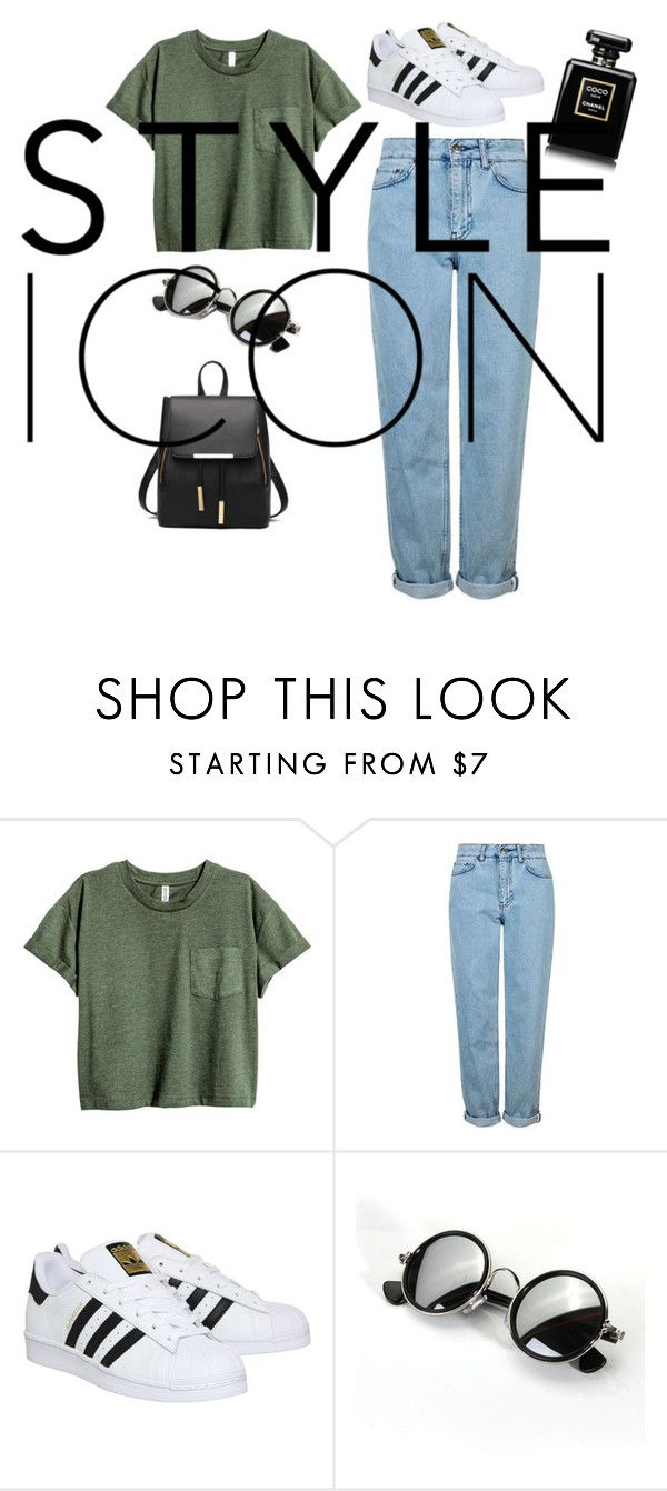 """""""Normal Day"""" by qveentrice ❤ liked on Polyvore featuring Topshop and adidas"""