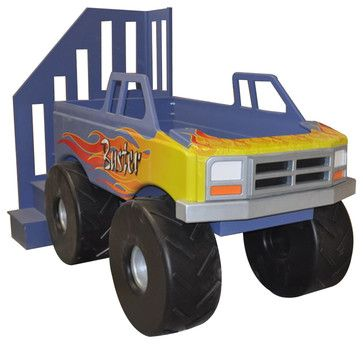 Monster Truck Bed Loft Traditional Kids Beds