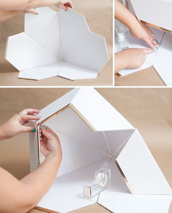 DIY, Giant Diamond Card Box For Weddings