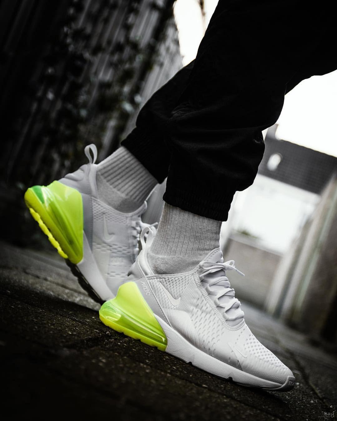 Nike Air Max 270  bianca Volt    Footwear   Volt Pinterest   Nike air max   29bec2