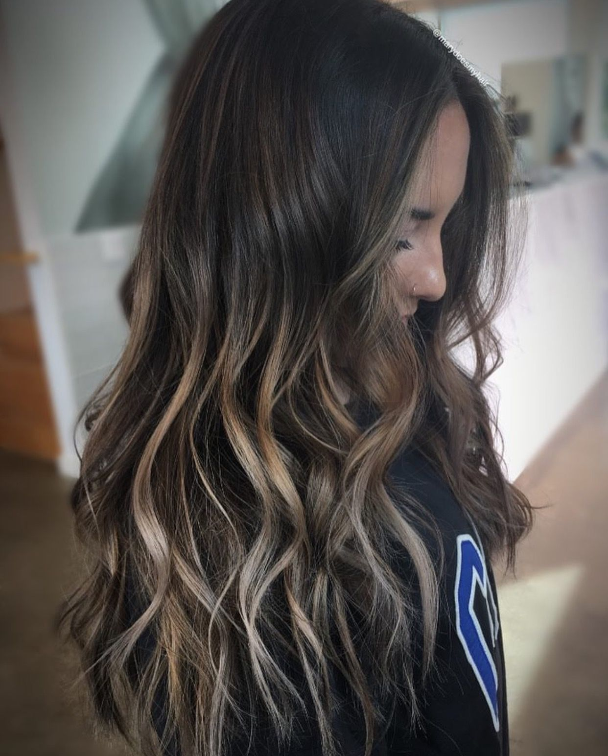 Dark To Light Brown Balayage Balayage Ombre Darktolight Hair