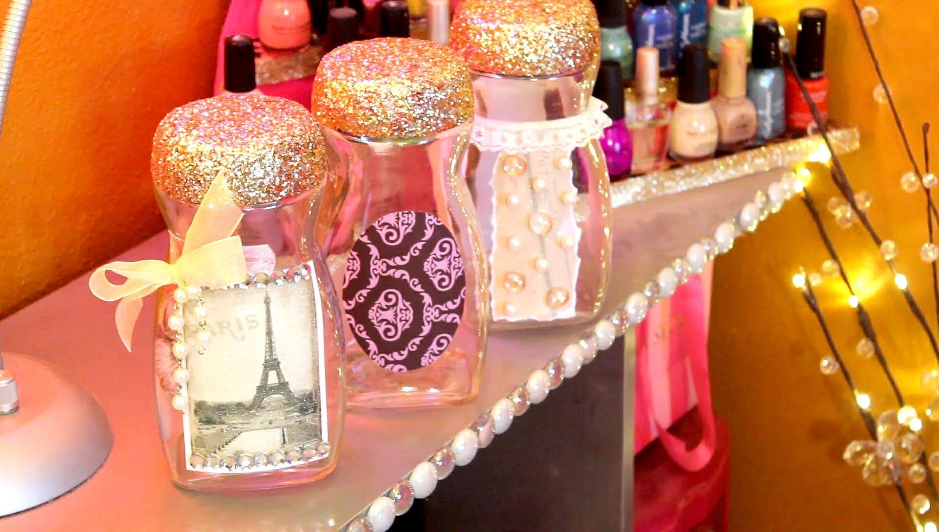 Frascos decorados con scrapbook paper diy pinterest for Envases de vidrio decorados
