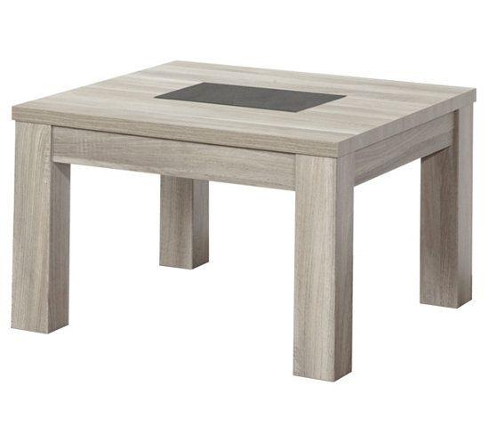 Table basse carree stone ht1bis chene gris best salons stone and tables ideas - Table basse chene blanchi ...