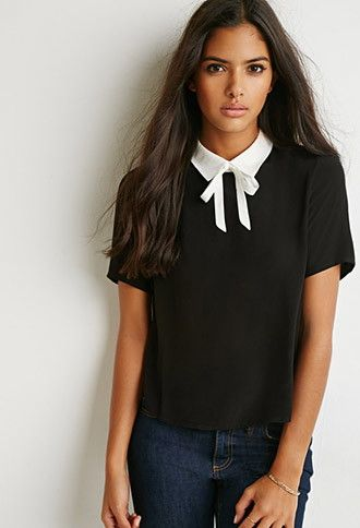 56487d0797c Tie-Neck Boxy Top | Forever 21 | #triedandtrue | Outfits I Love ...