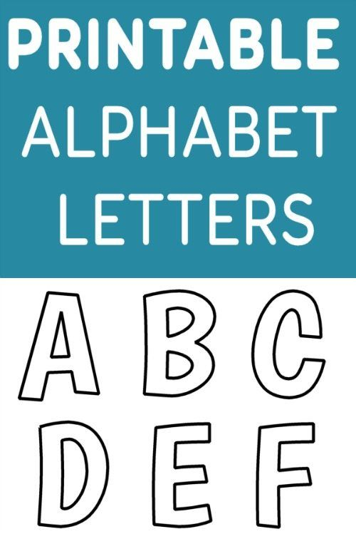 Free Printable Alphabet Templates  Preschool Language