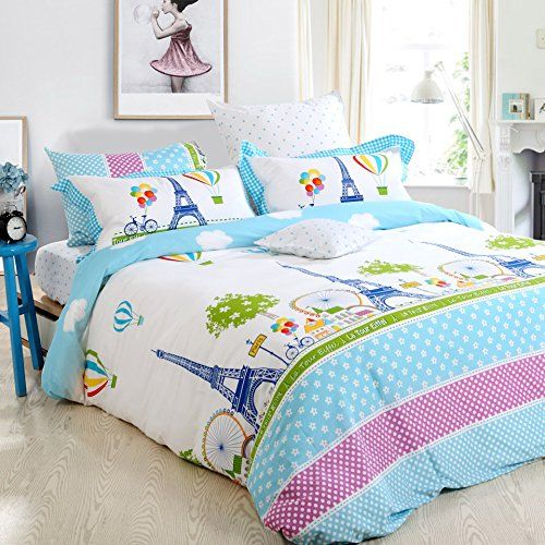 amazoncom fadfay home textile girls paris eiffel tower bedding sets twin full queen
