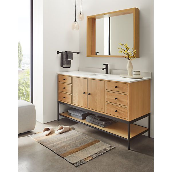 Linear Bathroom Vanity Cabinets with Shelf and Top - Modern Bathroom Vanities - Modern Bath Furniture - Room & Board