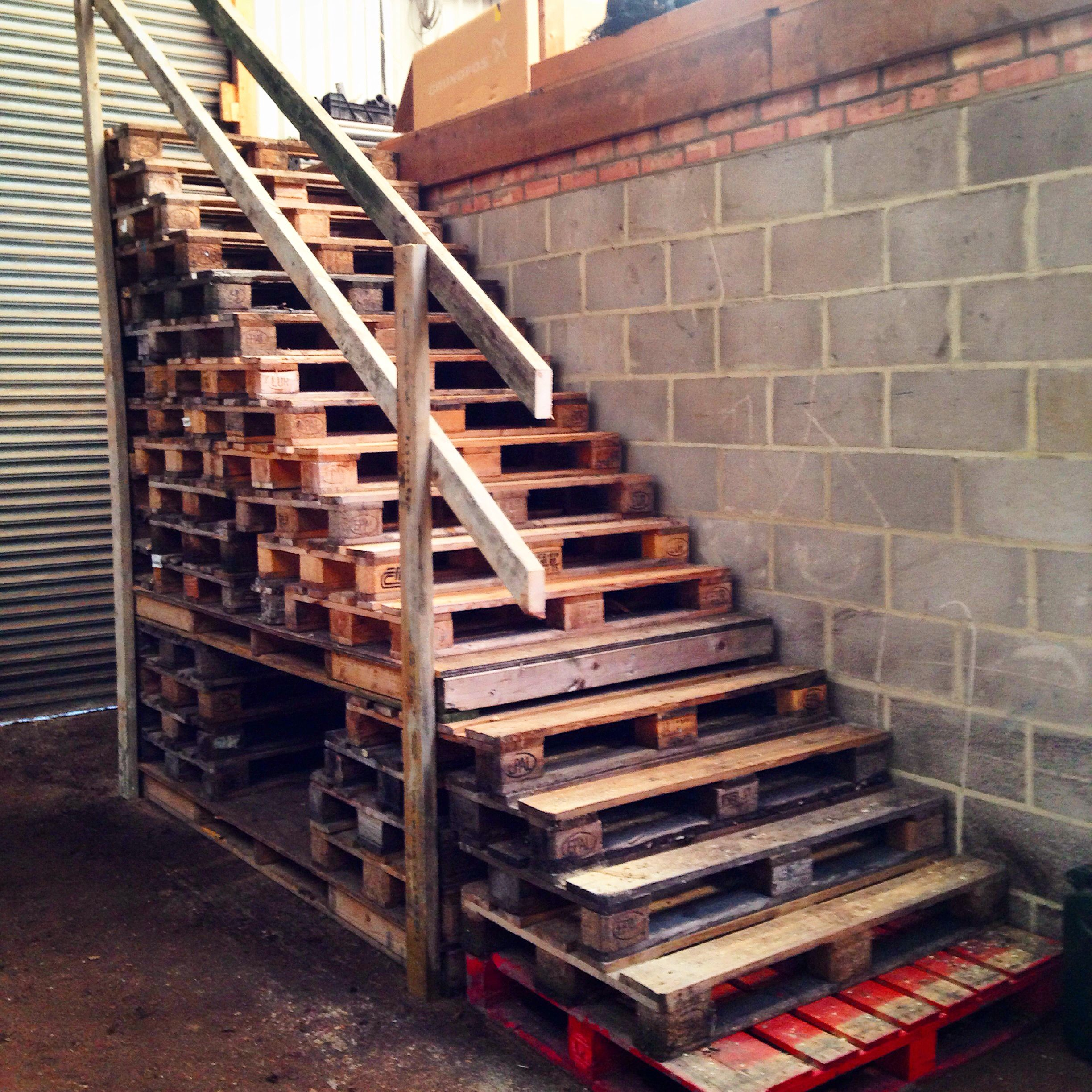 Top 50 Best Wood Stairs Ideas: Pallet Stairs: A Guy Thing.