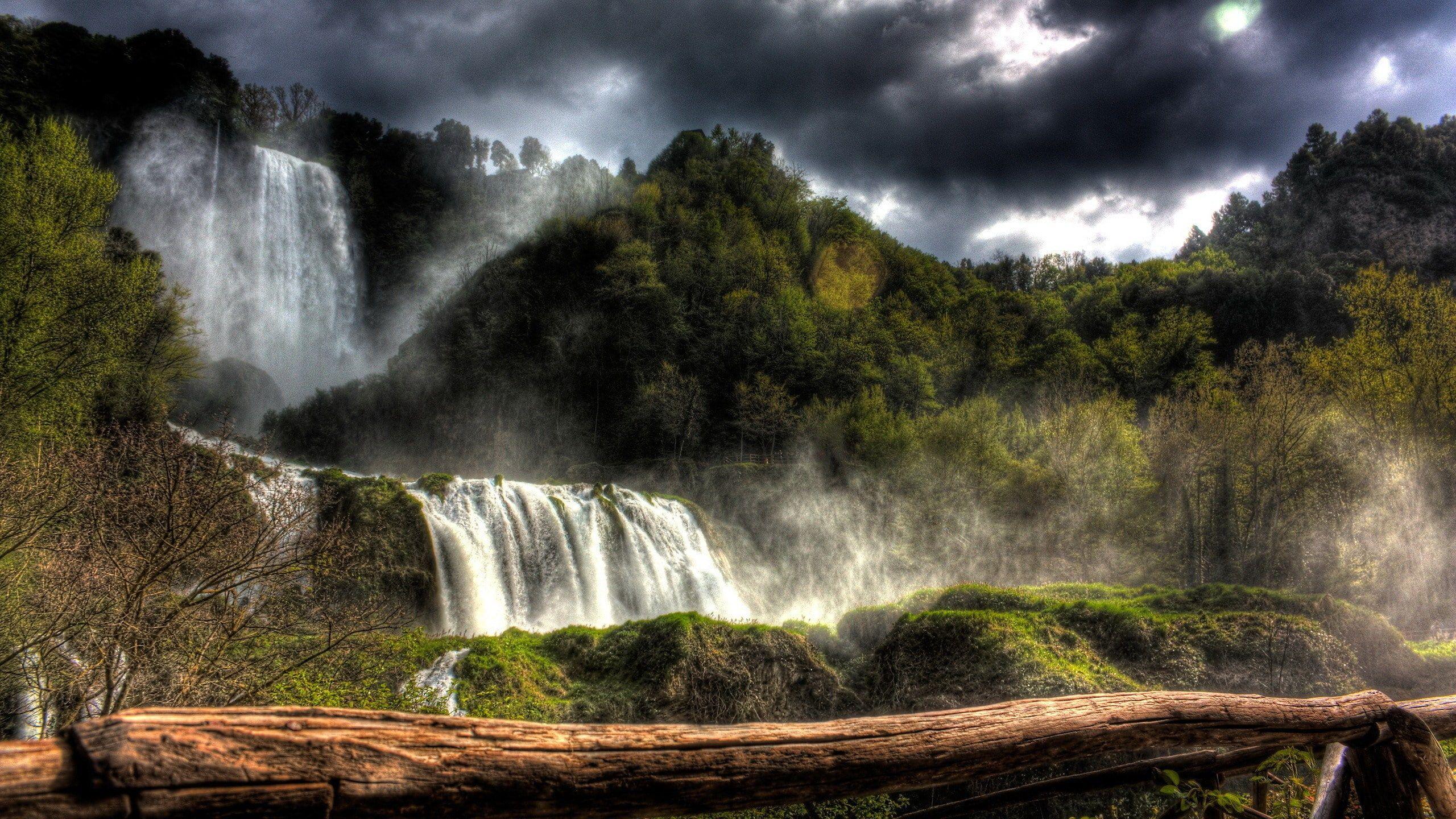 Nature Beauty Desktop Hd Images 2560x1440 2k Wallpaper Hdwallpaper Desktop Forest Waterfall Waterfall Waterfall Pictures